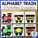 Alphabet Train Centers   Beginning Sounds Sort, Alphabet Match