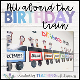All Aboard the Birthday Train Display