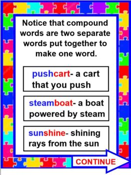 All Aboard the Compound Word Train