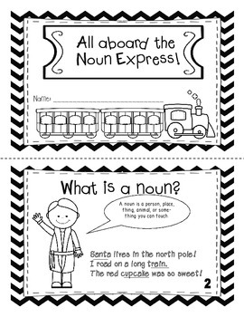All Aboard the Noun Express Mini-Book ( Polar Express Themed)