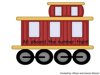 All Aboard the Number Train! 1-20 Number Puzzles