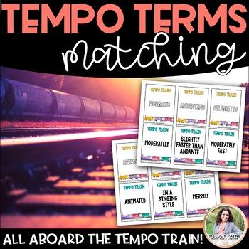 All Aboard the Tempo Train! Music Tempo Terms {Memory Matc