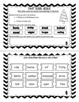 All Aboard the Verb Express Mini-Book ( Polar Express Themed)