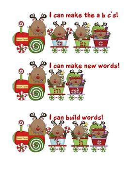 Reindeer Alphabet & Word Building Center | Christmas Word Work | Reading Center