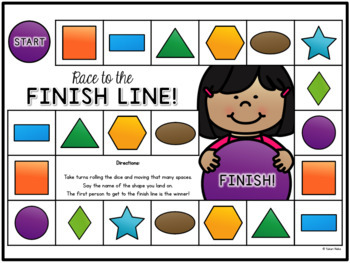 2D Shapes for Kindergarten: Centres, Printables and More
