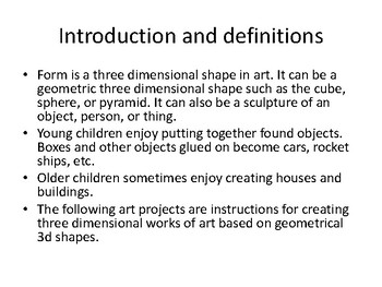 All About 3D Shapes