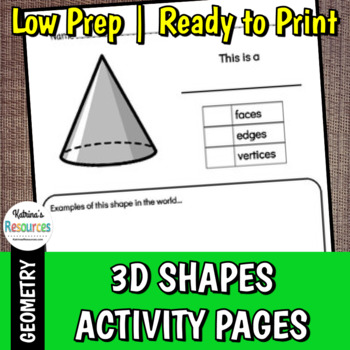All About 3D Shapes Activity Pages - Includes 10 Shapes!