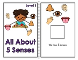 All About 5 Senses Adapted Book (2 Levels)