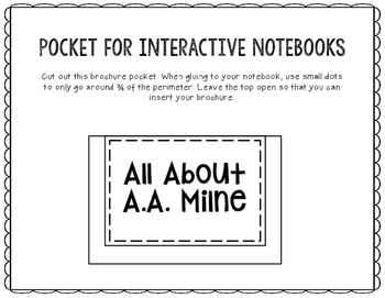 All About A.A. Milne - Biography Research Project - Interactive Notebook