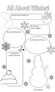 All About: A Bundled Package of Seasonal Writing Prompt Posters