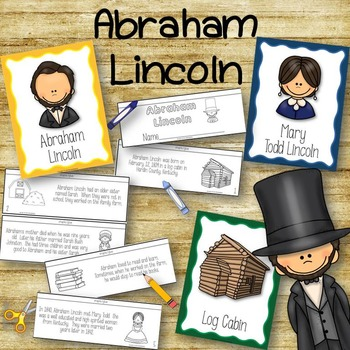All About Abraham Lincoln Posters and Book to Create