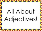 All About Adjectives! ACTIVboard Flipchart