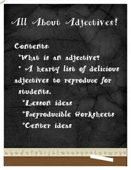 All About Adjectives, List of useful adjectives and adjectives worksheets