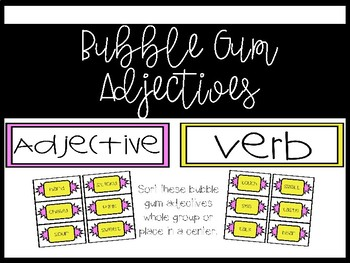 All About Adjectives! {color, number, shape, size}