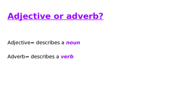 All About Adverbs