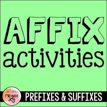 Prefixes & Suffixes Packet