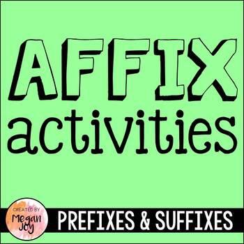 Affix Packet: Prefixes & Suffixes