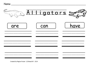 Alligators, Writing Activities, Graphic Organizers, Diagram {K-3 CCSS Research}