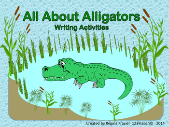 All About Alligators, Writing Activities, Graphic Organizers, Diagram