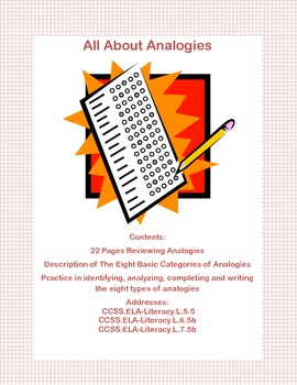 All About Analogies Grades 5-7 A Review of the 8 Basic Types of Analogies