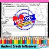 Ancient Greek Influences Activity Poster