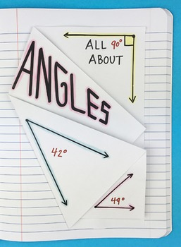 All About Angles Interactive Notebook Foldable by Math Doodles