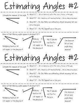 All About Angles: Math Mini-Lab