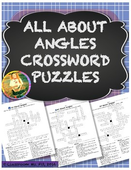 All About Angles Vocabulary Crossword Puzzles