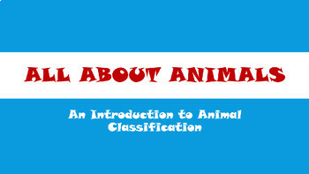 Animal Classification for K - 2