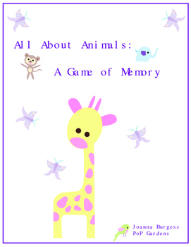 All About Animals: A Game of Memory