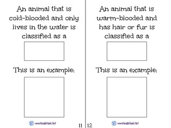 All About Animals- A Science Concept Adapted Book for Autism Units or Early Elem