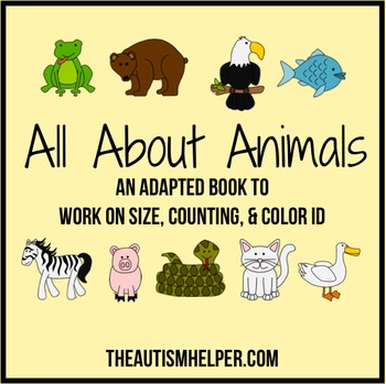 All About Animals - Adapted Book for Children with Autism