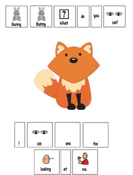 Bunny, Bunny What Do You See? Adapted Book for Preschool and Kindergarten