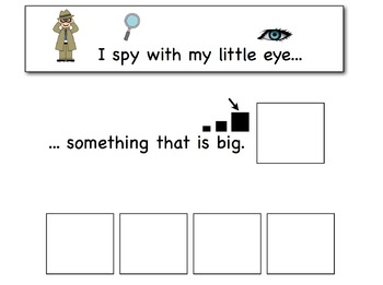 I Spy: Attributes and Inferences Adapted Book for Preschool and Kindergarten
