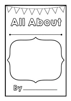 All About Animals Book Template