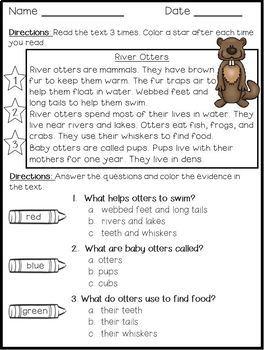 All About Animals Bundle: Reading Comprehension & Main Idea Passages