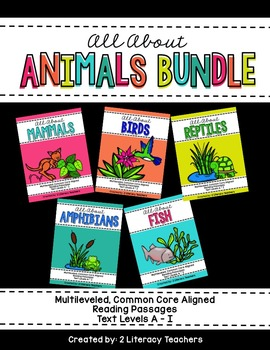 All About Animals: CCSS Aligned Leveled Reading Passages a