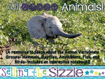 All About Animals! CCSS Aligned to teach about the 5 Verte