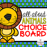 All About Animals Choice Board