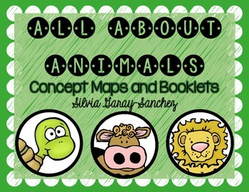 All About Animals Concept Maps and Booklets