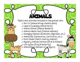 All About Animals [Groups, Habitats, Diet, and more!]