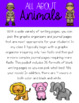 All About Animals Informational Journal