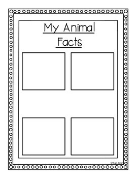 All About Animals: Informative Writing Templates on Animals A-Z!