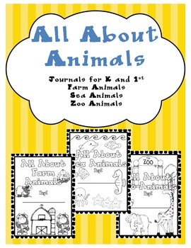 All About Animals Journals