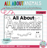All About Animals NGSS mini-book