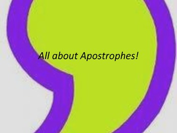 All About Apostrophes