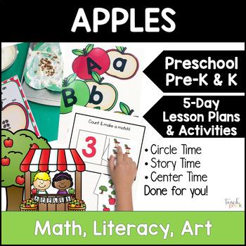 All About Apples!  5-Day Unit Lesson Plans for Preschool, PreK, K, & Homeschool