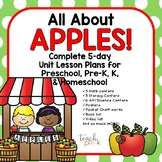 All About Apples!  5-Day Lesson Plans for Preschool, PreK, K, & Homeschool