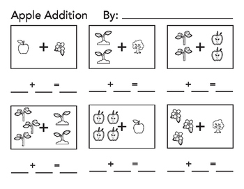 All About Apples Addition and Subtraction Worksheets