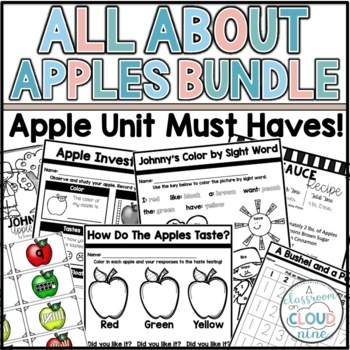 All About Apples Bundle {Johnny Appleseed, Math, Science, and Literacy Bundle}